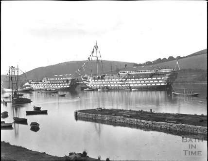 Naval training station, Dartmouth, end of 19th century