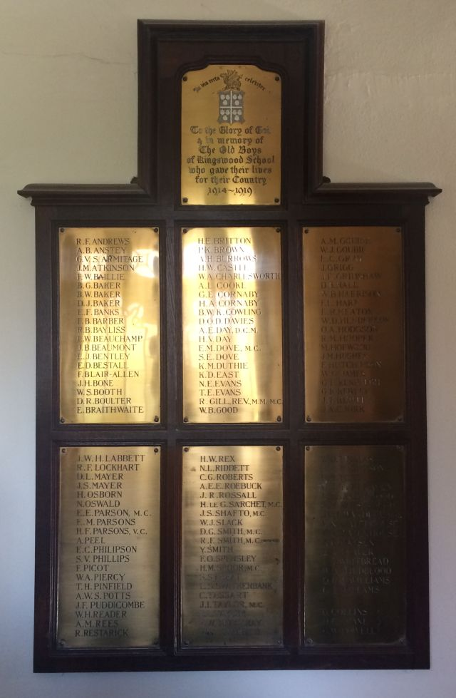 Kingswood School memorial tablet